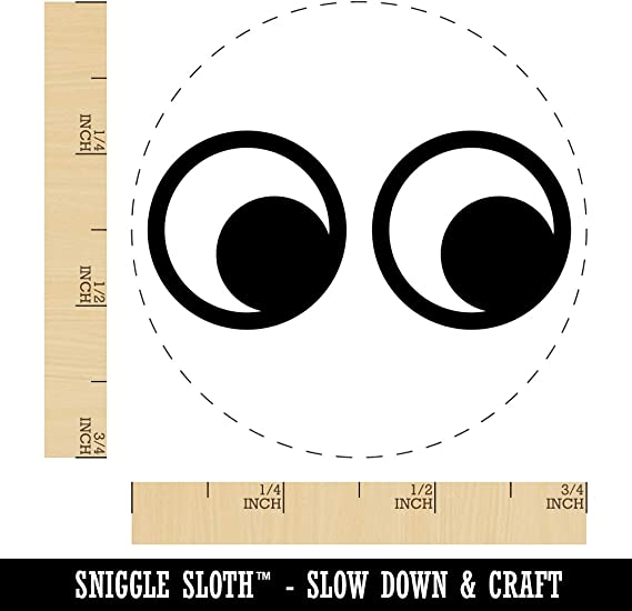 Wood Stamps Arts, Crafts & Sewing Cute Cartoon Eyes Looking to ...