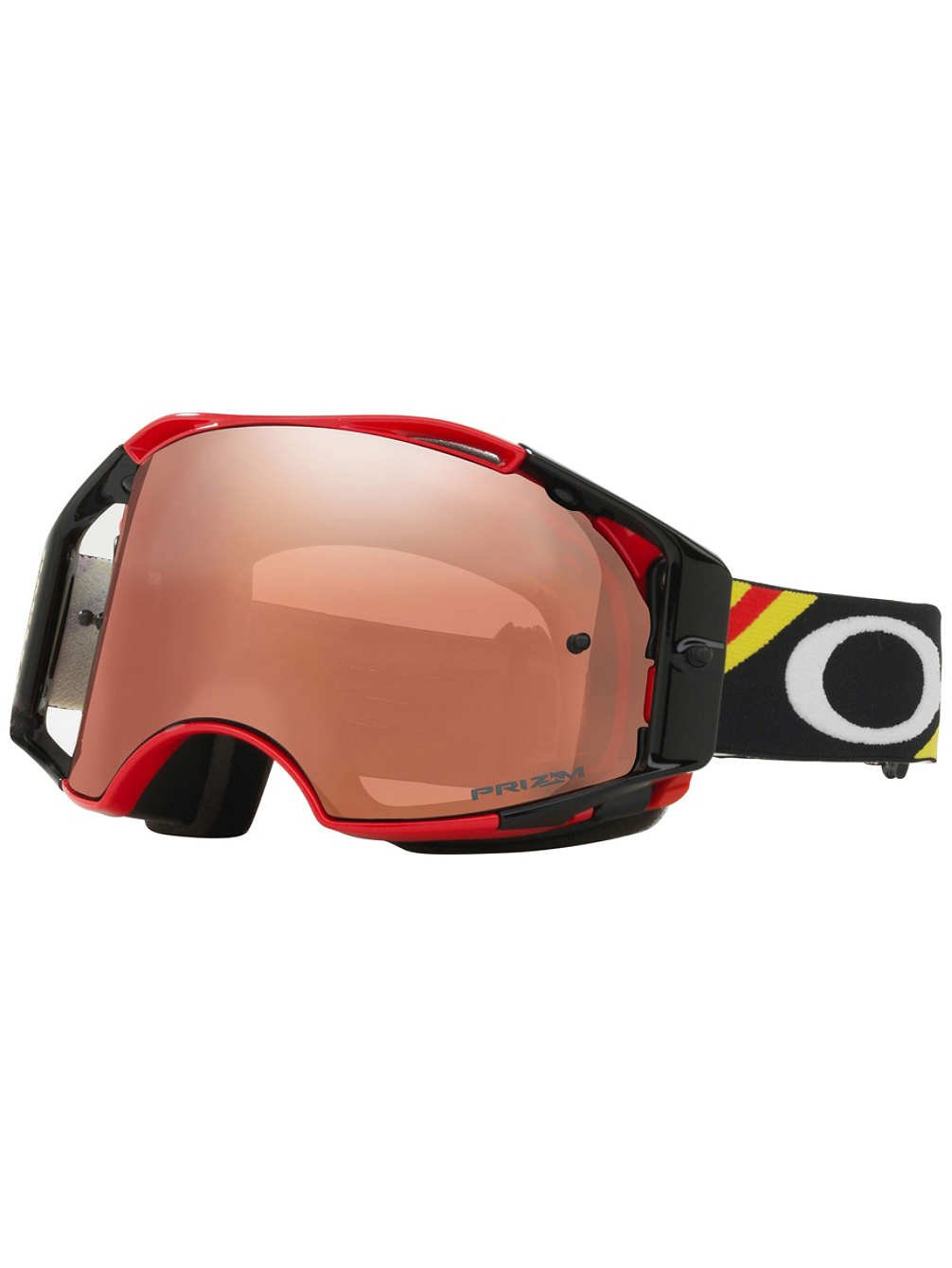 Oakley Airbrake MX Heritage Racer Adult Off-Road Motorcycle Goggles Bright Red W/Prizm Black Iridium Lens