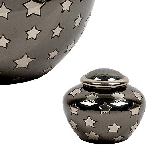 - Perfect Memorials Starry Night Brass Keepsake Cremation Urn
