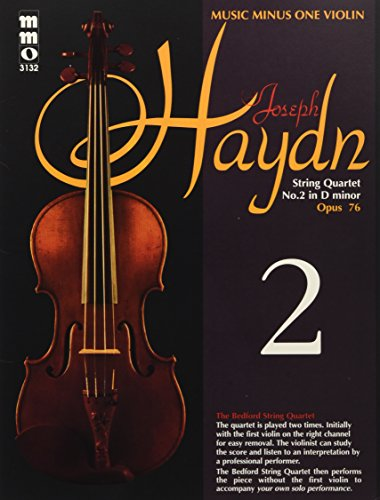 Haydn - String Quartet No. 2 in D minor, Op. 76: Violin Play-Along Pack (Music Minus One (Numbered))