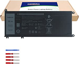 Indmird 33YDH Laptop Battery for Dell Inspiron 17 7778 7779 7773 7786 15 7577 G3 3579 3779 G5 5587 G7 7588 Latitude 13 3380 14 3490 15 3580 3590 Vostro 7570 7580 Replacement PVHT1 81PF3 15.2V 56Wh
