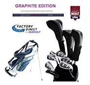 New AGX Ladies Right or Left Hand Ladies LT Golf Club Set w/Stand Bag, Driver, 3 Wd, Hybrid, 5-9 Irons, PW, Free Putter; Petite, Regular or Tall Length: USA Built