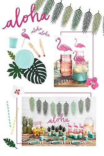 Partyset Komplettset Hawaii Aloha pink grün 51 teilig ...