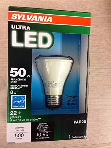 12 Pieces Sylvania 78874 LED8PAR20 Dim 850 FL40 G3 Rp 8W PAR20 500 Lumen 25,000 Hr