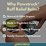 Ruff Relief Balm for Dogs - Moisturize & Protect Nose & Paws (1.75oz) Organic, Natural, & Made in USA, Soothes Dry Cracked Skin, by Pawstruck