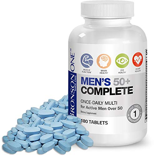 Bronson ONE Daily Mens 50+ Complete Multivitamin Multimineral, 180 Tablets (Best Multivitamin For Men Over 50 Reviews)