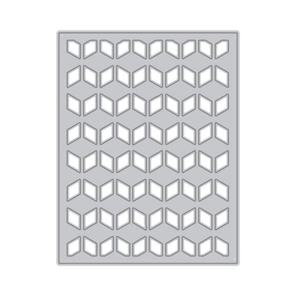 Rhombus Background Cutting Dies Embossing Template Stencil for DIY Stamp Photo Frame Scrapbooking Album Card Making Craft