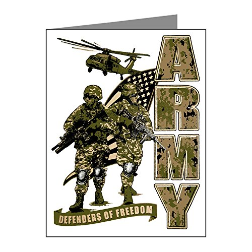 Officer Greeting Cards (Greeting Card US Army Defenders Freedom)