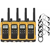 Motorola Talkabout T402 Radio 4-Pack with Curl PTT Earpiece