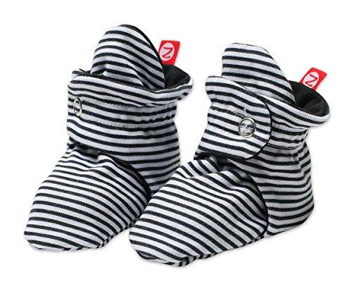 Zutano Unisex-Baby Newborn Candy Stripe Booties, Black, 3 Months (Socks Zutano)