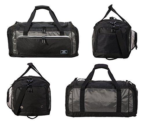 e8b2fde168 MIER Large Duffel Bag Men s Gym Bag with Shoe Compartment