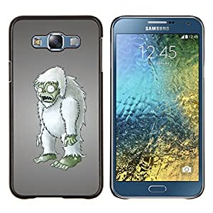 "Be-Star Único Patrón Plástico Duro Fundas Cover Cubre Hard Case Cover Para Samsung Galaxy E7 / SM-E700 ( Zombie embargo Arte del muñeco peludo Figurita 3D"" )"