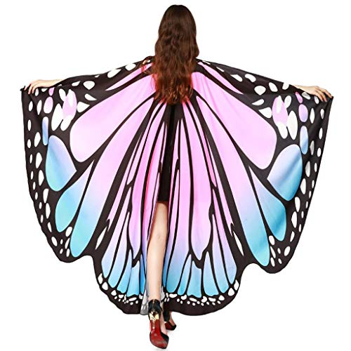GRACIN Halloween Butterfly Wings Shawl Soft Fabric Fairy Pixie Costume Accessory (65