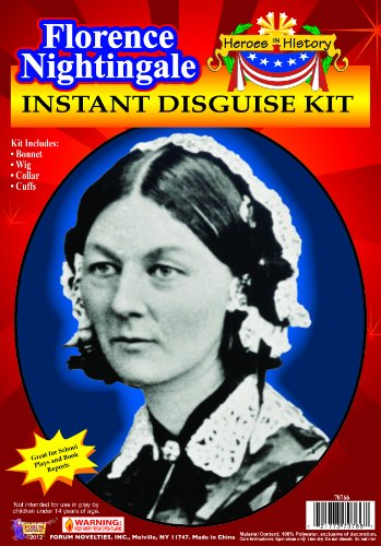 Forum Novelties Women's Heroes Instant Disguise Kit Florence Nightingale, Multi, One -