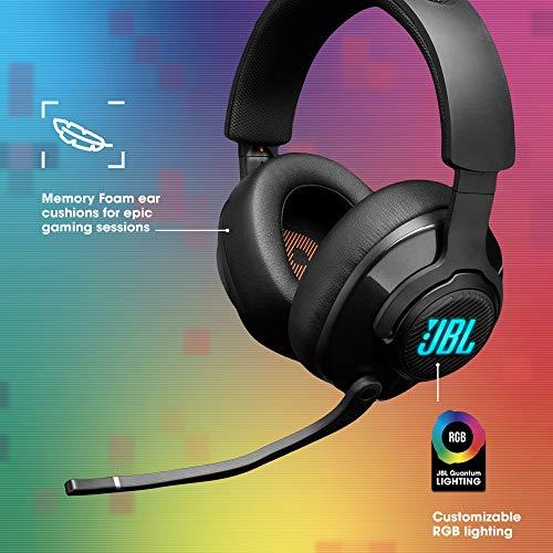 JBL Quantum 400 Auriculares para gamers con un diseño llamativo, tecnología de virtualización surround y reproducción…