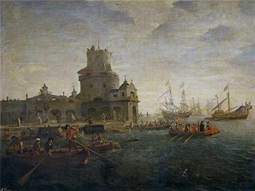 - The Polyster Canvas Of Oil Painting 'Eyck Gaspar Van Marina ' ,size: 8 X 11 Inch / 20 X 27 Cm ,this Vivid Art Decorative Prints On Canvas Is Fit For Study Artwork And Home Decoration And Gifts