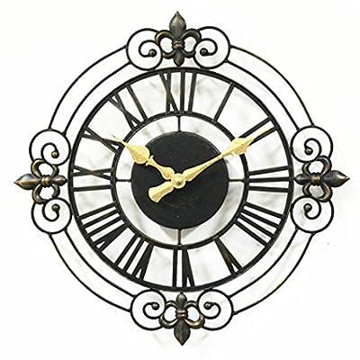 14 Inch Large Iron Despertador Decorative Vintage Wall Clock with Clock Movement Mechanism Silent