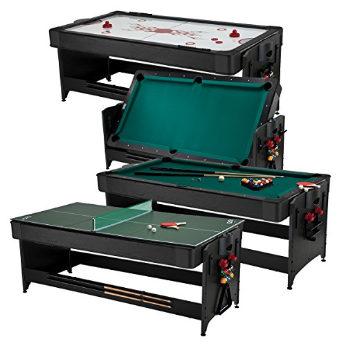 n-1, 7-Foot Pockey Game Table (Air Hockey, Billiards and Table Tennis) (Air Hockey Table Dimensions)