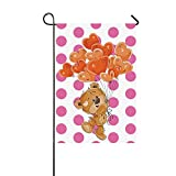 Valentine's Day Pink Polka Dot House Flag-Home Decorative 28 x 40 Inch Review
