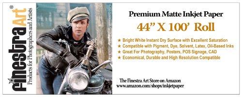 44x100 Ft Roll Premium Arctic Matte Inkjet Photo Paper 230gsm [Office Product] ()