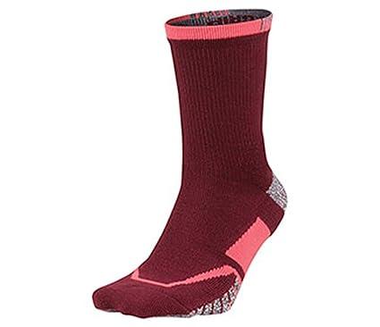 ff2fdbe9c NIKE GRIP Elite Crew Tennis Socks,Team Red/Hot Punch, Large: Amazon.co.uk:  Clothing