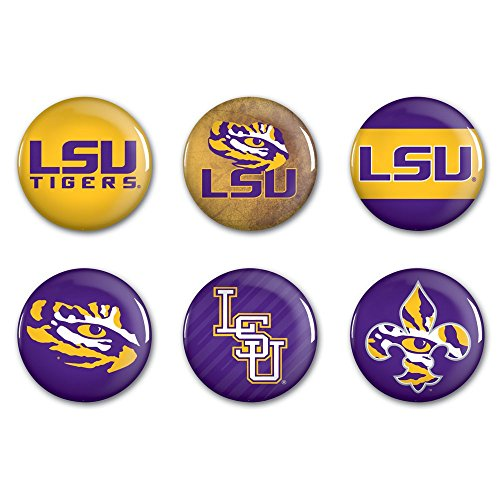 WinCraft NCAA Louisiana State University WCR98882023 Round Button (6 Pack), -