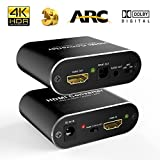 HDMI Audio Extractor, ONEDAY HDMI to HDMI+Audio(SPDIF&R/L)+ARC Converter Support 4Kx2K@60Hz 3D Compatible Multi Audio Modes(PASS/2.1CH/5.1CH) with DTS-HD/Dolby-true HD/LPCM7.1/DTS/Dolby-ac371s - Black