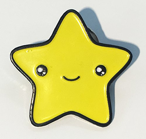 Cute Star Kawaii Face Enamel Lapel - Star Ivy