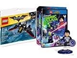LEGO DC Super Heroes: Justice League: Cosmic Clash Limited Figure Blu Ray DVD + Lego Batman Batwing Exclusive Kit
