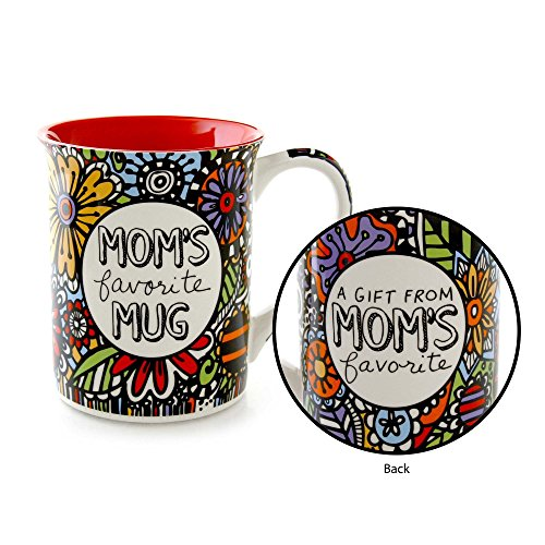 """- Our Name is Mud """"Mom's Favorite"""" Cuppa Doodle Stoneware Mug, 16 oz."""