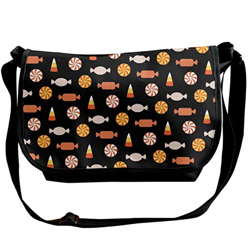 Taslilye Halloween Candy Vector Image Customized Wide Crossbody Shoulder Bag For Men And Women For Daily Work Or Travel for $<!--$25.50-->