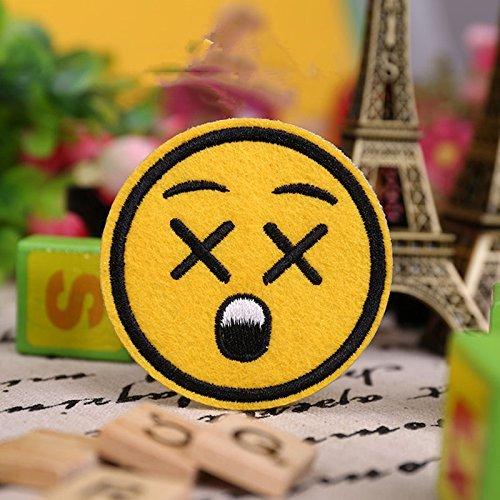 Emoji Parches Bordado Hierro en apliques Badge Pegatinas de para ropa: Amazon.es: Juguetes y juegos