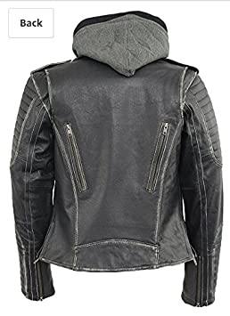 Black, X-Large 1 Pack MLL2516-BLK-XL Milwaukee Leather Womens Rub-off M//C Jacket with Full Hoodie Jacket Liner
