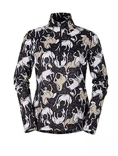 Kerrits Ladies Horse Sense Half Zip Large Black