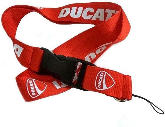 Ducati Black Auto Car Accessory Fabric Lanyard Neck Strap Detachable Clip V4R