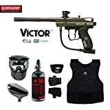 Kingman Spyder Victor Beginner Protective HPA Paintball Gun Package - Olive