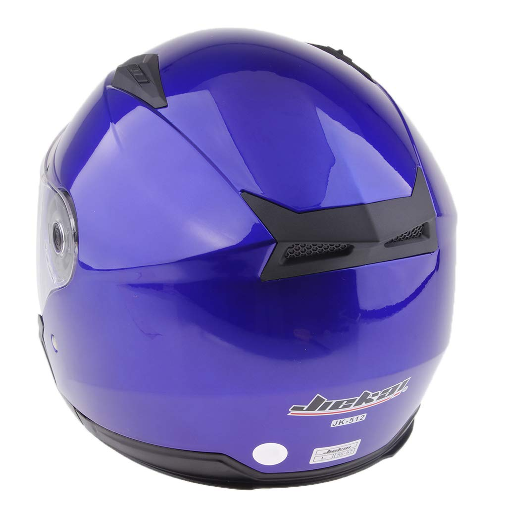 KESOTO Casco Moto Aperto 3//4 Con Visiera Integrale Nero opaco XXL