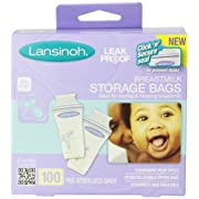 Lansinoh Breastmilk Storage Bags - 100 ct - 3 Pk