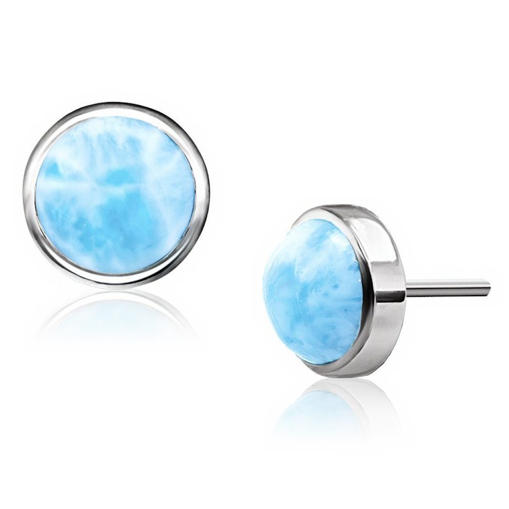 Marahlago - Basics Collection Round Larimar Post Earrings