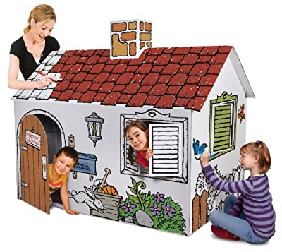 Discovery Kids Cardboard Color Me Play House by Discovery Kids