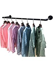 Wall Mount Clothes Rack,Industrial Pipe Garment Rack Hanger Storage for Clothing Display Laundry