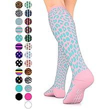 GO2 Compression Socks for Women Men Nurses Runners 15-20 mmHg (Medium) - Medical Stocking Maternity Travel - Best Performance Recovery Circulation Stamina