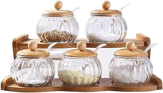 JANRON-Spice Jars Botes de Especias Botes para Especia Palet de ...
