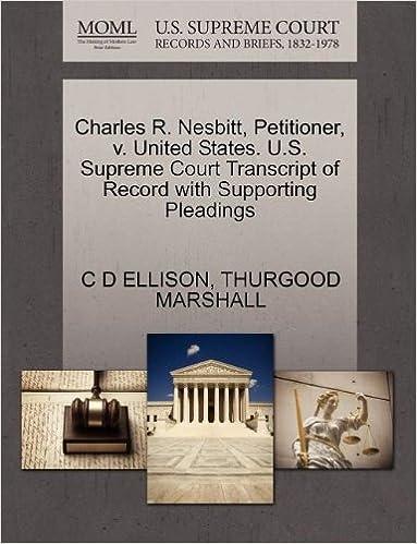 Charles R Nesbitt Petitioner V United States U S Ebooks