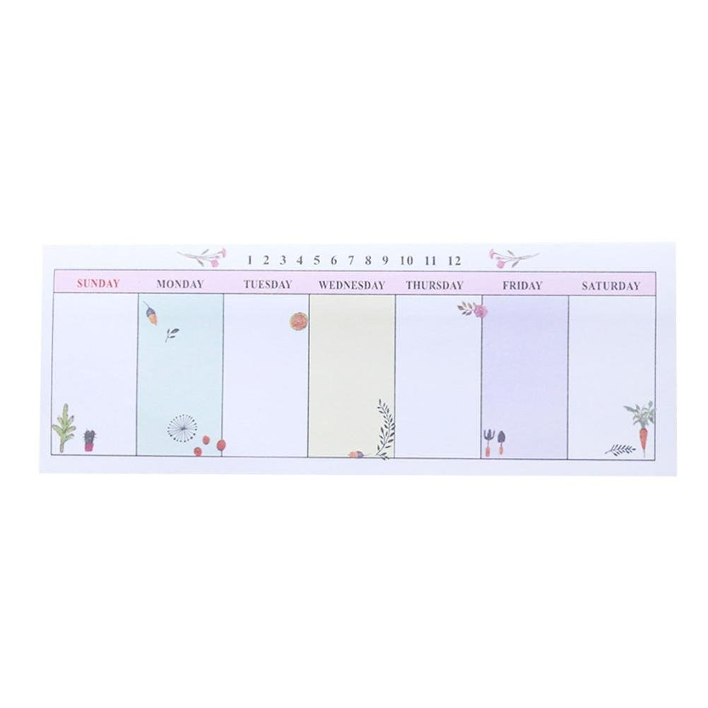 NewKelly Durable Week Weekly Plan Schedule Check Sheet Scratch Pad Memo Paste Note (8)