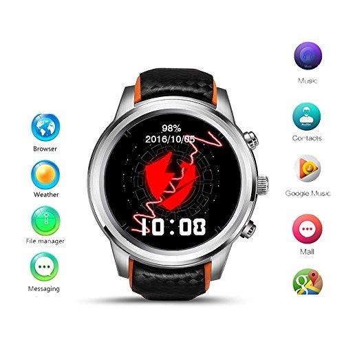Imillet Reloj Inteligente Android 5.1 MTK6580 Quad Core 1 GB ...