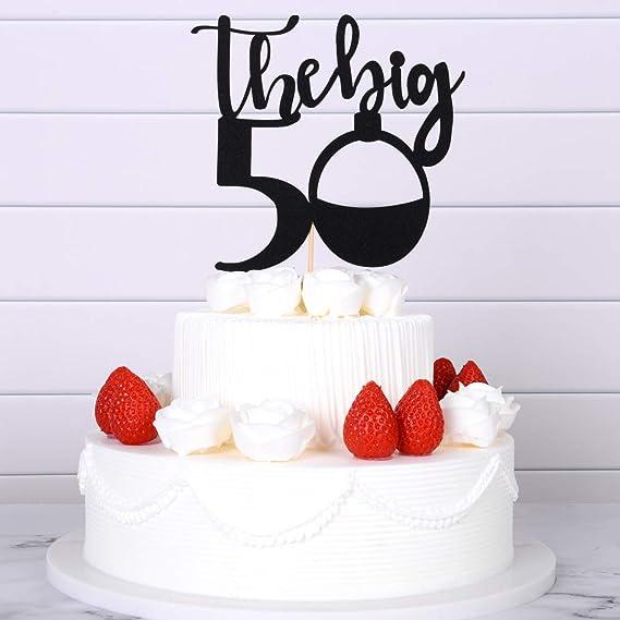 Swell Black 50Th Birthday Cake Topper The Big 50 50Th Birthday Gift Funny Birthday Cards Online Necthendildamsfinfo