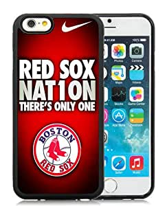Unique And Durable Custom Designed Case For iPhone 6 4.7 Inch TPU With Boston Red Sox Black Phone Case