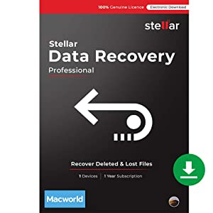 Stellar Data Recovery Software   for Mac   Professional   Version 10.0   Recover Deleted Data, Photos, Videos from Mac   1 Device, 1 Yr Subscription   Instant Download (Email Delivery)