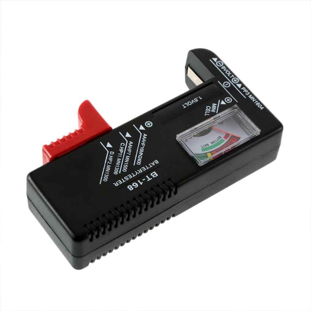 Lorsoul AA//AAA//C//D 1.5V num/érique Jauge de Batterie Universel Bouton Cellule de Batterie Volt testeur Checker BT-168 9V